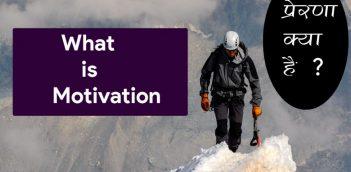 What is Motivation – प्रेरणा क्या है ?